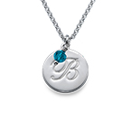 Children's Baptism Necklace in Sterling Silver