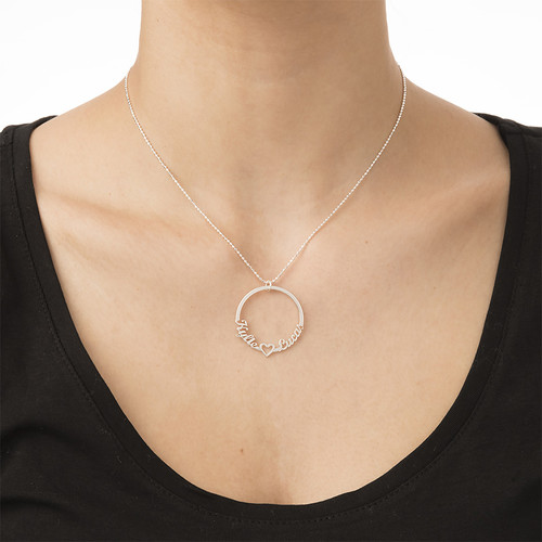 Circle Name Necklace - 1