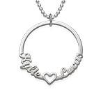 Circle Name Necklace