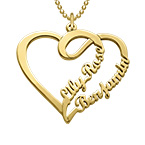 Couple Heart Necklace with Gold Plating - Yours Truly Collection