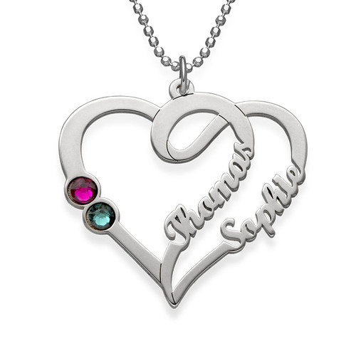 Couples Birthstone Necklace - My Everlasting Love Collection