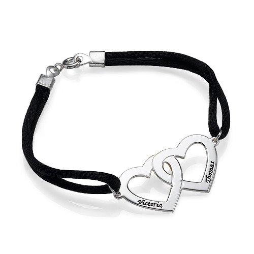 Love Bracelet for Couples with Heart Charms