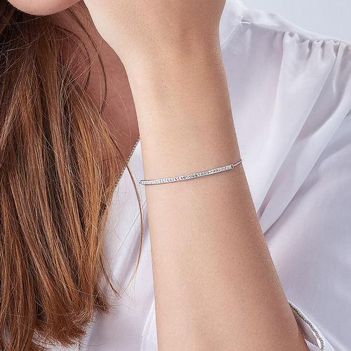 Cubic Zirconia Bar Bracelet - 3