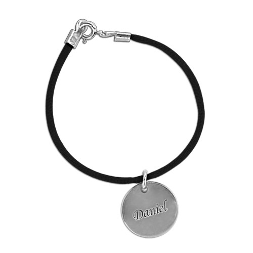 Engraved Bracelet for Mum with Silver Charm