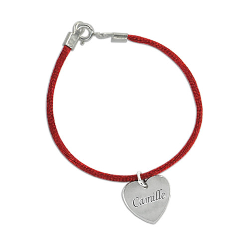 Engraved Bracelet for Mum with Silver Charm - 1