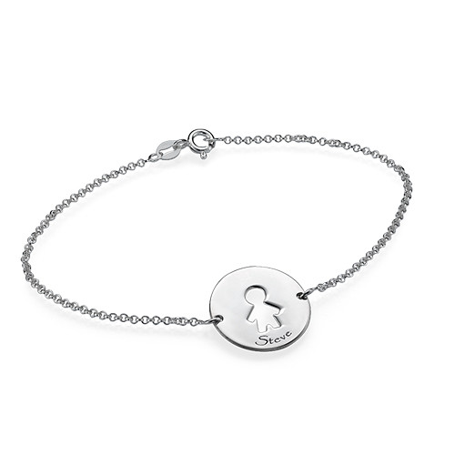 Cut Out Mum Bracelet in Silver - 3