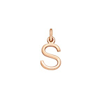 Delicate Initial Charm - Rose Gold Plated