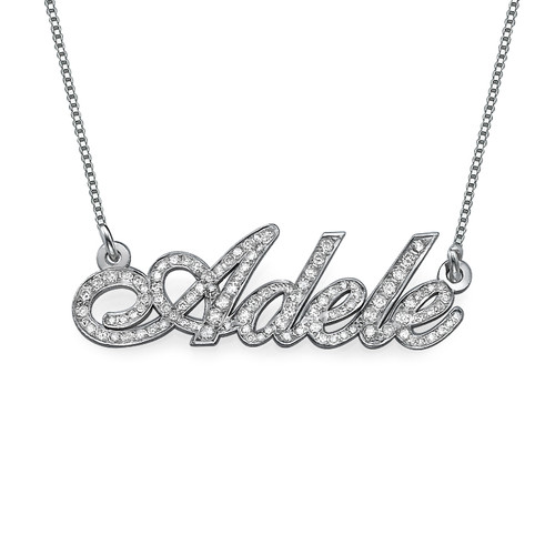 Diamond and 14ct White Gold Name Necklace