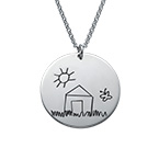Disc Necklace for Mums with Kids Drawings
