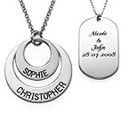 Discs & Dog Tag Necklace Set