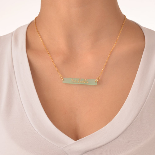 Acrylic nameplate necklace - Ughs shoes