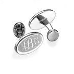 Engraved Cufflinks with Monogram Initials