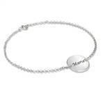 Engraved Disc Bracelet / Anklet