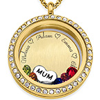Engraved Floating Charms Locket -