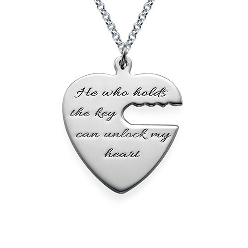 Engraved Key to My Heart Necklace - 1