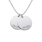 Engraved Kids Disc Necklace