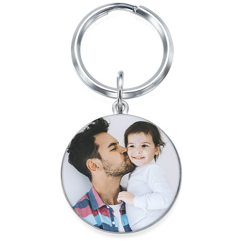 Engraved Photo Keyring - Round Shaped