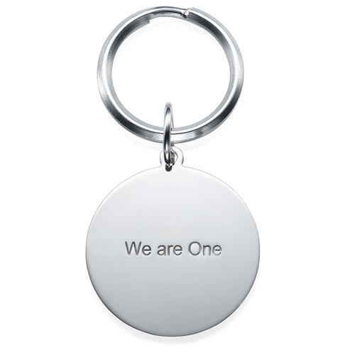 Engraved Photo Keyring - Round Shaped - 1