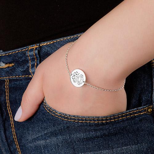 Sterling Silver Monogram Bracelet - 2