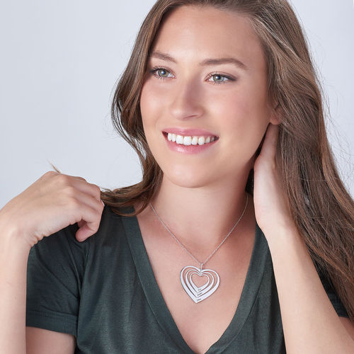 Family Hearts necklace in Silver Sterling - 2