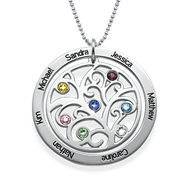 Birthday Gifts for Her - Family Tree Birthstone Necklace
