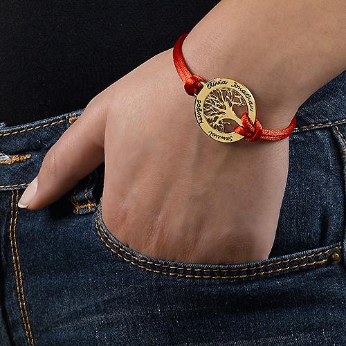 Family Tree Bracelet in 18ct Gold Plating - 2