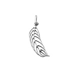 Feather Charm - Silver