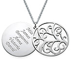Filigree Family Tree Necklace