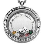 Floating Gemstones Locket for Mum or Grandma