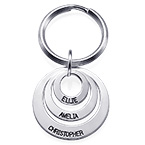 Gift for Mum - Three Disc Engraved Keyring