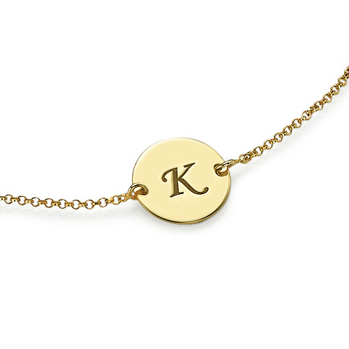 Gold Plated Initial Bracelet - 1