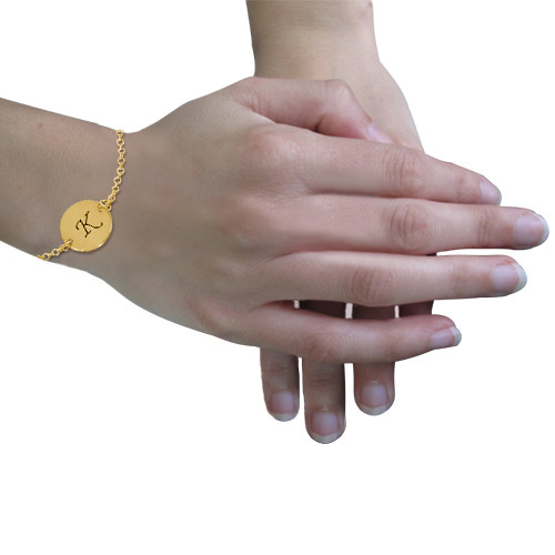 Gold Plated Initial Bracelet - 2