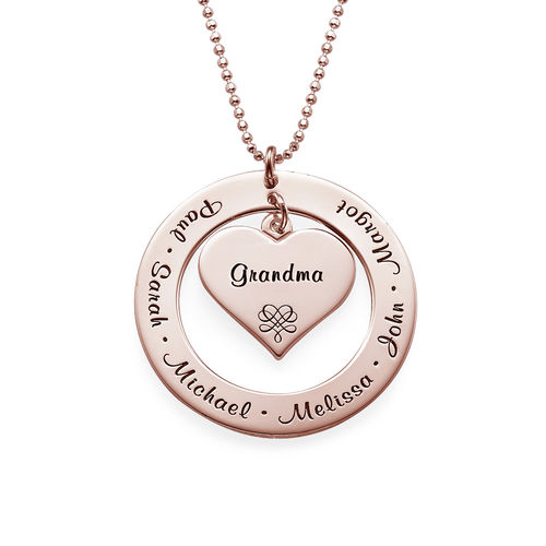 Grandmother Necklace with Rose Gold Plating