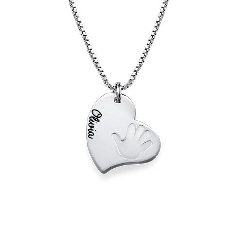 Handprint Necklace - Heart Shaped