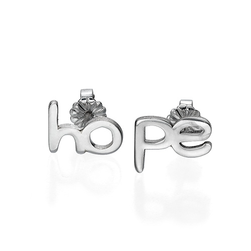 Hope and Love Stud Earrings - 2
