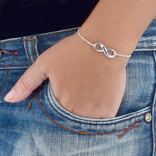 Infinity Bracelet & Stud Earrings Set - 4