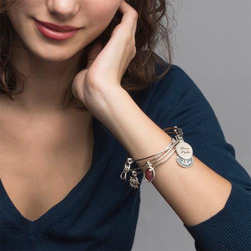 Infinity Charm Bangle Bracelet - 2