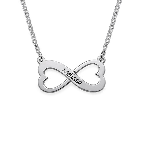 Infinity Heart Necklace in Silver