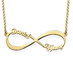 Infinity Name Necklace in Gold Plating