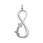 Infinity Name Pendant - Silver