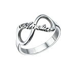 Infinity Name Ring in Silver