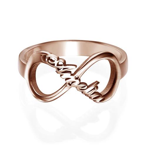Infinity Name Ring with Rose Gold Plating - 1