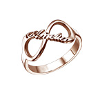 Infinity Name Ring with Rose Gold Plating