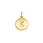 Initial Disc Charm - Gold Plated