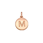 Initial Disc Charm - Rose Gold Plated