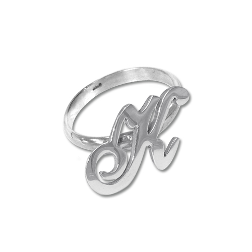 Initial Ring in Silver
