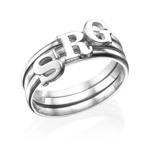 Initial Ring in Sterling Silver - 3