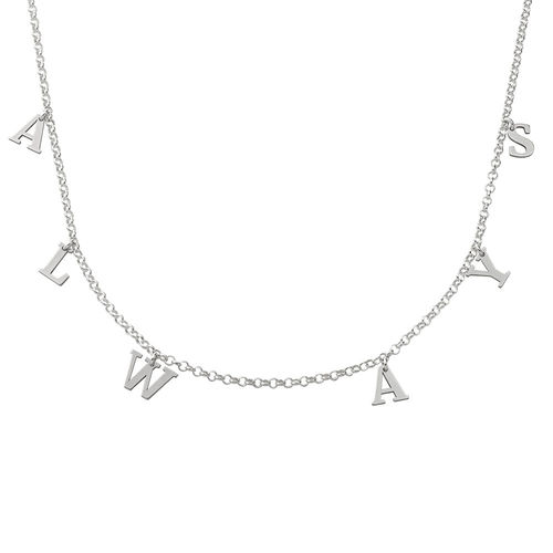 Name Choker in Sterling Silver - 1