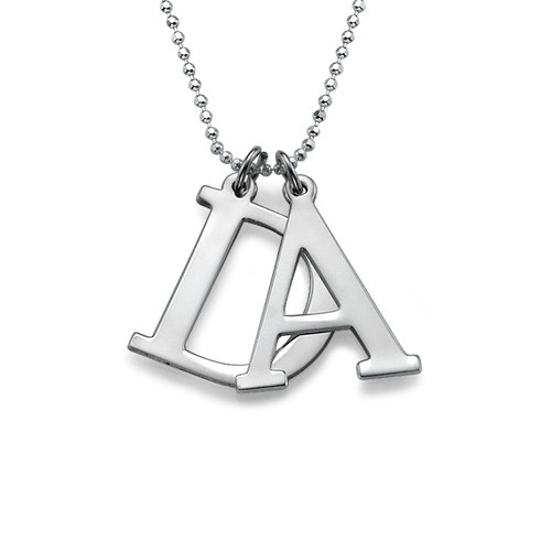 Initials Necklace in Silver - 2