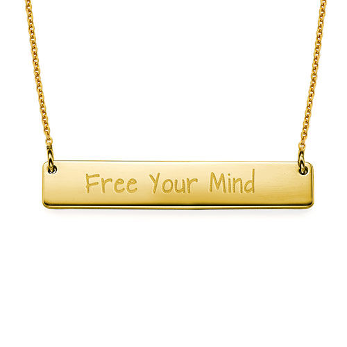 "Inspirational Gifts - ""Free Your Mind"" Bar Necklace"